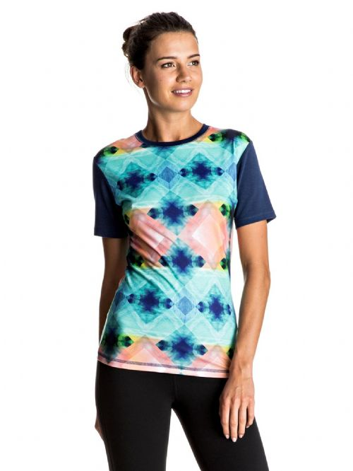 ROXY WOMENS RASH T SHIRT.POP SURF UPF50+ SUN PROTECTION RASH VEST TOP 7S 39 WBT6